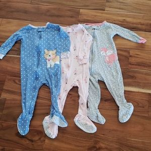 Carter's Baby Girl Pajama Lot 12M
